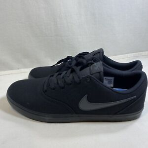 Nike-SB-Mens-Shoes-Check-Solar-Canvas-Black-Anthracite-Size-13M