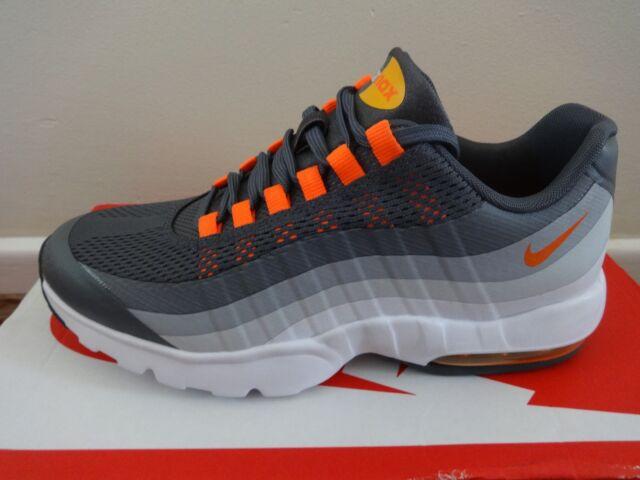 WMNS Nike Air Max 95 Ultra Grey Orange Womens Retro Running Shoes ... 7d5afd82d