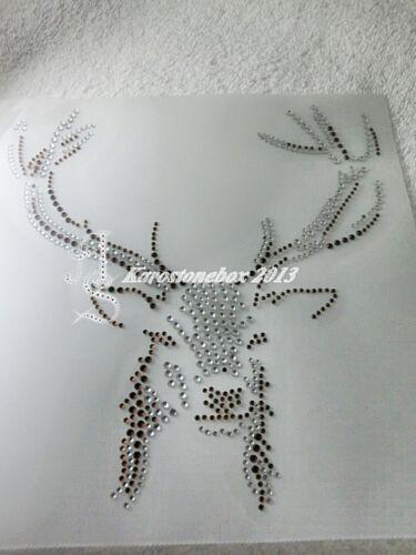 HotFix pedrería vidrio perchas imagen gran ciervo 130287-c Crystal karostoenbox