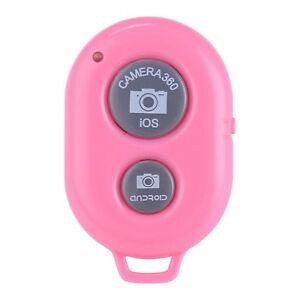bluetooth remote shutter button wireless for selfie stick iphone samsung pink ebay. Black Bedroom Furniture Sets. Home Design Ideas