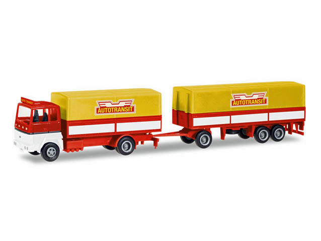 Herpa 308021 h0 Camion Ford TransConti planifier-Hängerzug autotransit