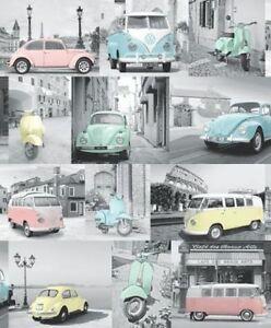 Retro Old Vintage Car Campervan Camper Van Beetle Vw Volkswagen