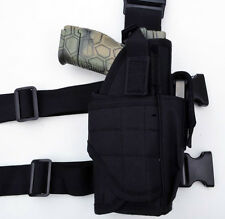 Tactical Leg Thigh Gun Pistol Holster or Open Carry Belt Duty Holster BLACK