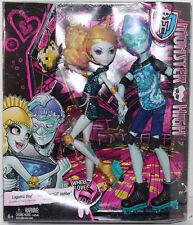 """Monster High WHEEL LOVE LAGOONA BLUE & GIL WEBBER 11"""" Fashion DOLLS 2-PACK NEW"""
