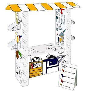 spielhaus werkstatt aus pappe malhaus kartonhaus zum bemalen karton ebay. Black Bedroom Furniture Sets. Home Design Ideas