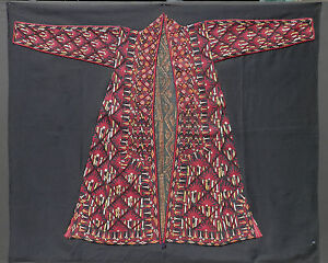 Embroidery Museum Mounted Linens & Textiles (pre-1930) Learned Ca 1850 Antique Tekke Turkmen Tribal Woman's Chirpy Front Panel