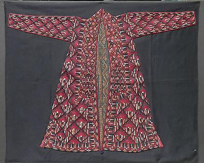 Ca 1850 ANTIQUE TEKKE TURKMEN TRIBAL WOMAN'S CHIRPY FRONT PANEL. MUSEUM MOUNTED