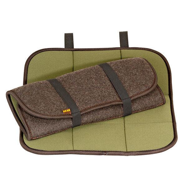 AKAH folding removable Sitz cushions Neoprene Loden Ansitz Felt Hunting Fishing Hiking Noiseless