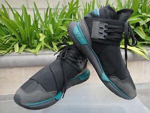 a5be7c33397a Y-3 BB4735 Yohji Yamamoto Adidas Qasa High Sneakers Black Teal Mens ...