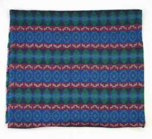 Vintage-Sewing-Fabric-Soft-Plush-Fuzzy-Knit-Indian-Blanket-Luxe-3-Yards-x-63-034