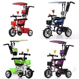 Trike 4in1 Children Adjustable Tricycle 3 Wheel Toddler Bike ...