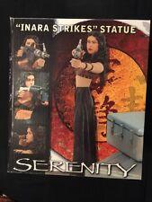 Serenity Inara Strikes Statue #286 of 1000 COA MIB Firefly Diamond Select Toys