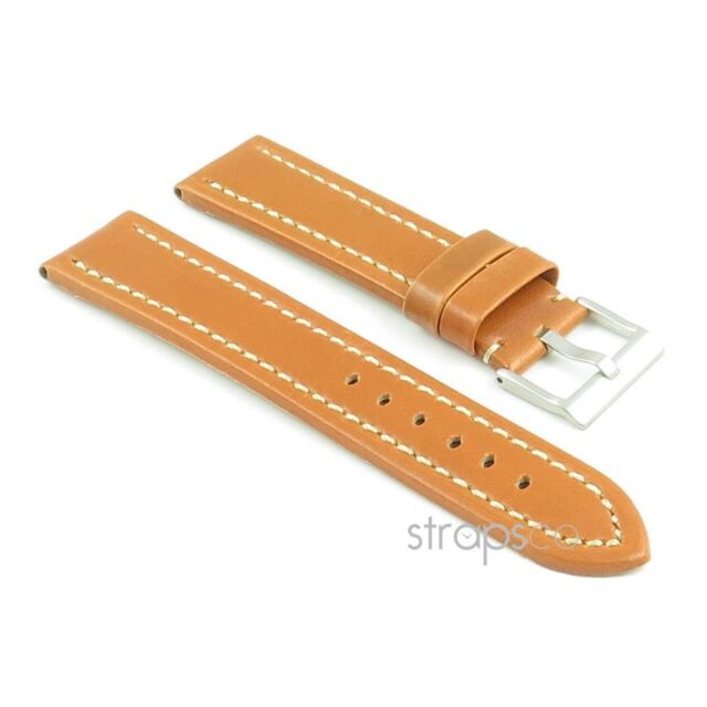 StrapsCo Premium Quality Leather Watch Band Mens Strap - Many Colors and Sizes!