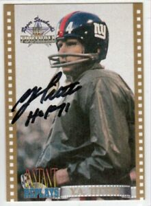 New-York-Giants-Y-A-TITTLE-HOF-autographed-signed-card-1994-Insert-IR2-auto-YA