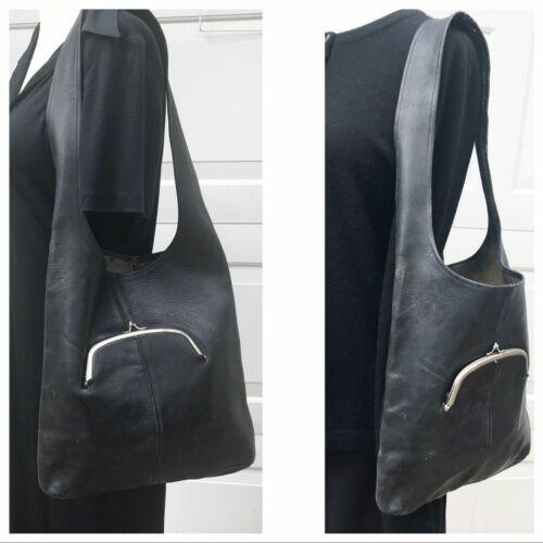 VINTAGE 60s Coach leather Bonnie Cashin bag very R
