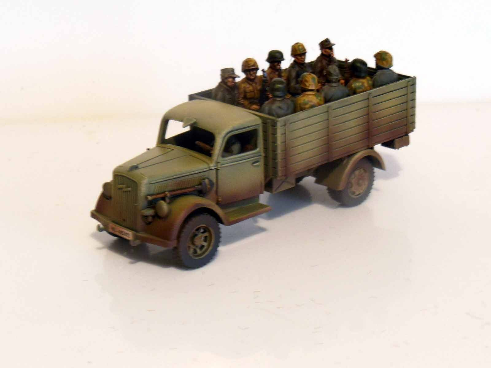 28mm Bolt Action Chain Of Command German Opel Blitz Open Top - Painted