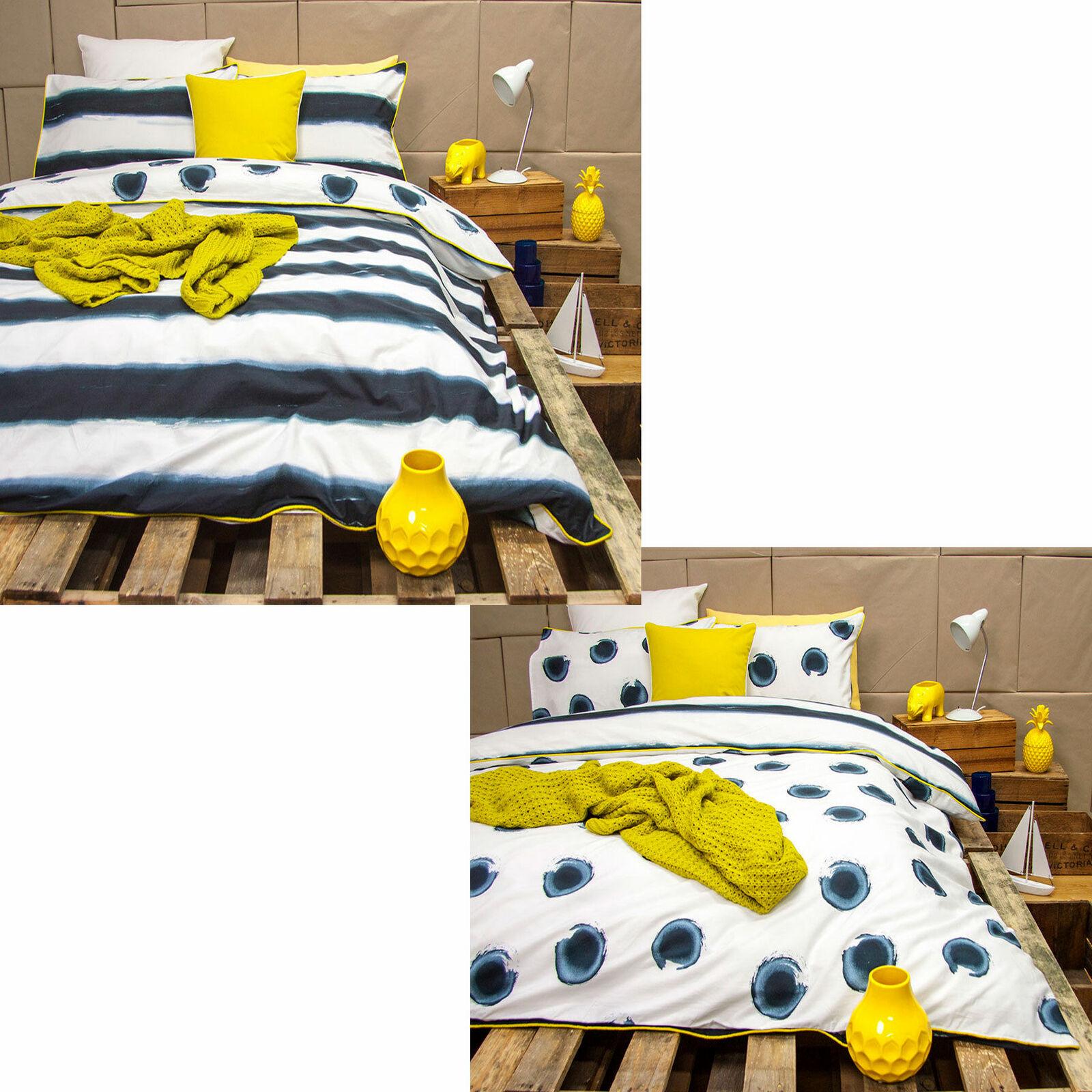 3 Pce MIZU Indigo Reversible Quilt Duvet Will Startseite Set by Ardor Königin König