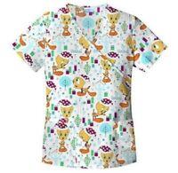Looney Tunes Christmas Short Sleeve Scrubs Shirt Women Size S Xxl Xxxl