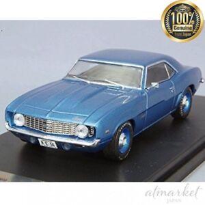 Premiumx Prd044 Mini Voiture 1/43 Chevrolet Camaro 1969 Bleu Moulage Sous