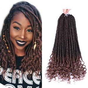 1pcs Goddess Locs Faux Locs Hair With Curly Ends Soft Dreadlocks