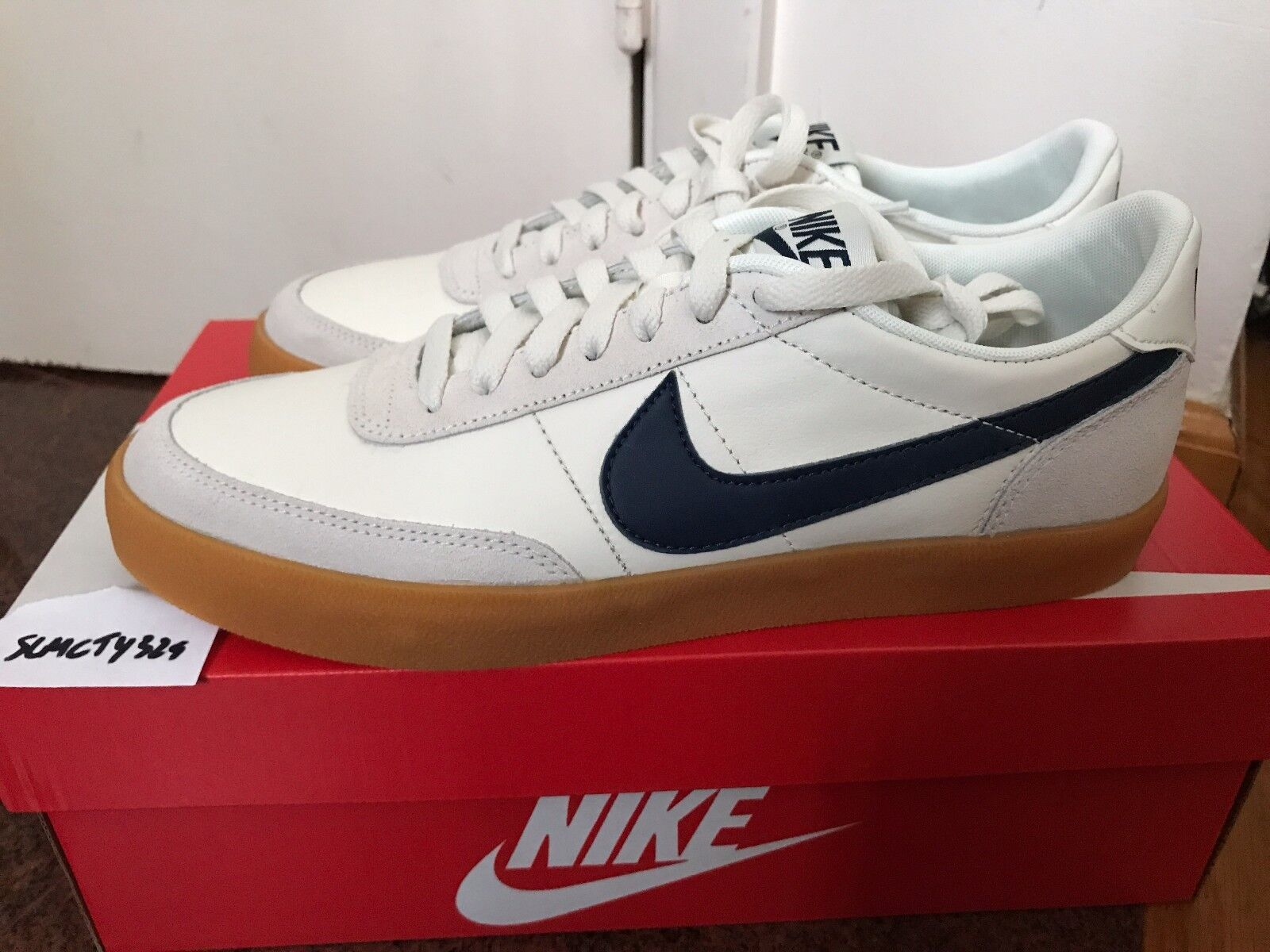 J. Crew Nike Killshot 2 Leather Sail Midnight Navy Gum Jaune 432997-107 8-12