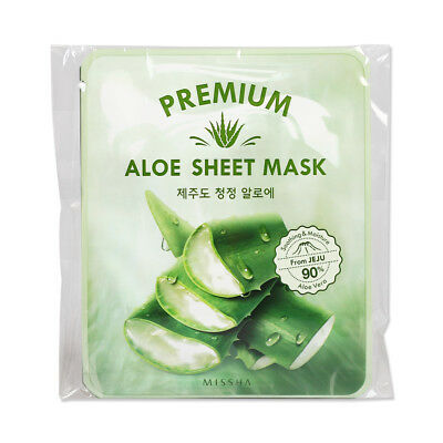 [MISSHA] Premium Aloe Sheet Mask - 1pack (5pcs)