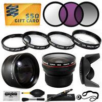 15pc Macro + Fisheye + Telephoto + Filters For Canon Powershot G15 G16 Camera