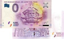 DDR Museum - 200 Jahre Karl Marx 2018-5 Null Euro Souvenirschein|€0 EuroSchein