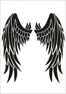 stencil w 207 angel wings umr wall stencil ebay