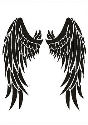 Stencil W-207 Angel Wings ~ UMR Wall Stencil