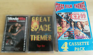 Movie-Film-Themes-music-cassette-Compilation-Bundle-6-tapes-1980s-retro