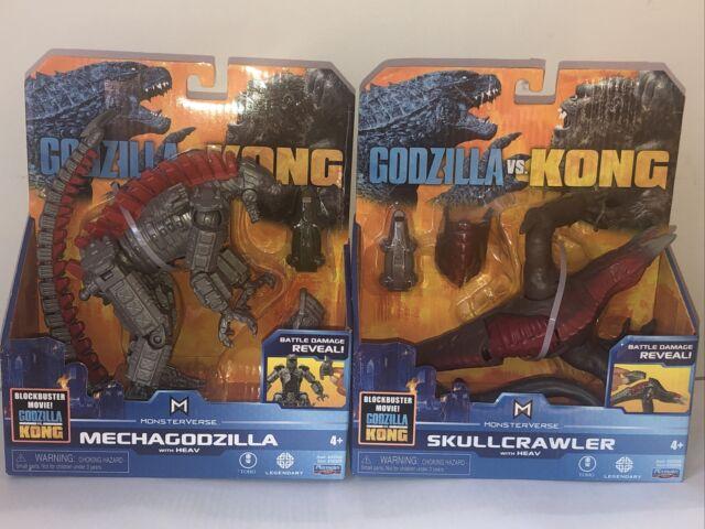 NEW Playmates Monsterverse Godzilla vs Kong Mechagodzilla , And Skull Crawler.