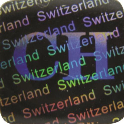 Sicherheitsetikett Garantiesiegel 3D Hologramm Siegel Schweiz 12x12mm