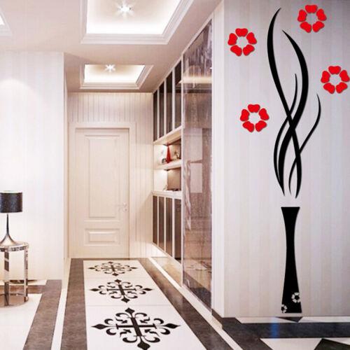 Fleur Autocollant Vinyle Décoration Art Maison Chambre Amovible Mural Wall Stickers ^ D