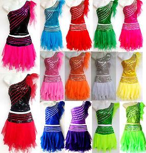 Kinder Madchen Damen Cheerleader Kostum Kleid Fasching Cosplay Gr