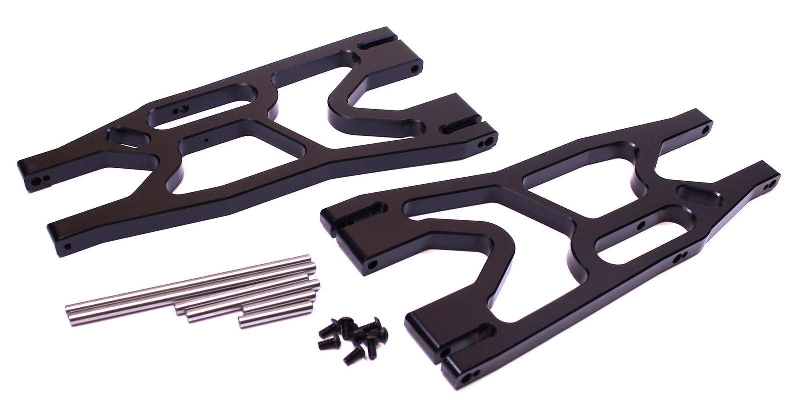 Racers Edge-X-Maxx delantera trasera de aluminio Conjunto de brazo de suspensión inferior-Negro