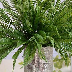 Large Artificial Boston Fern Fake Plant Bush Leaf Leave