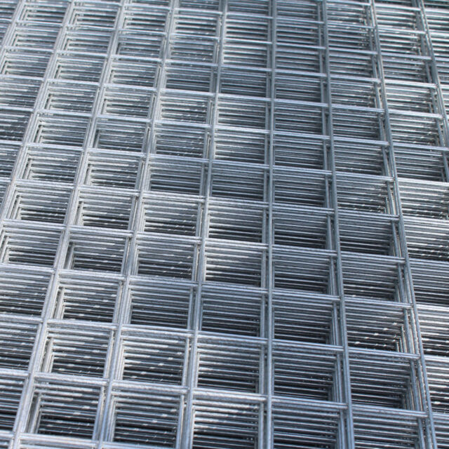 2x Welded Wire Mesh Panels 8x4ft Galvanised Steel 50mm Hole Sheet ...
