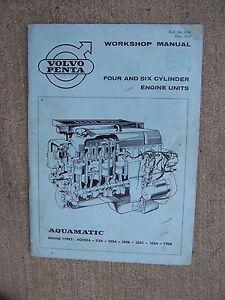 1970 volvo penta aquamatic marine engine workshop manual 4 6 rh ebay co uk Volvo Penta Parts Volvo Penta Wiring Harness