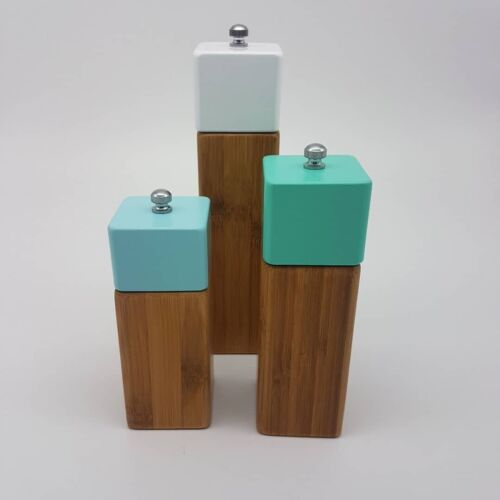 Wooden Bamboo Salt And Pepper Grinder Holder *Brandnew And Unused*