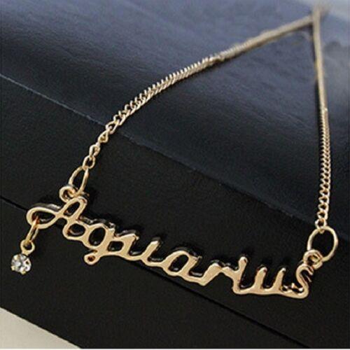 Gold /& Silver Star signo collar Zodiaco Horoscopo Cadena Colgante Vintage Nueva