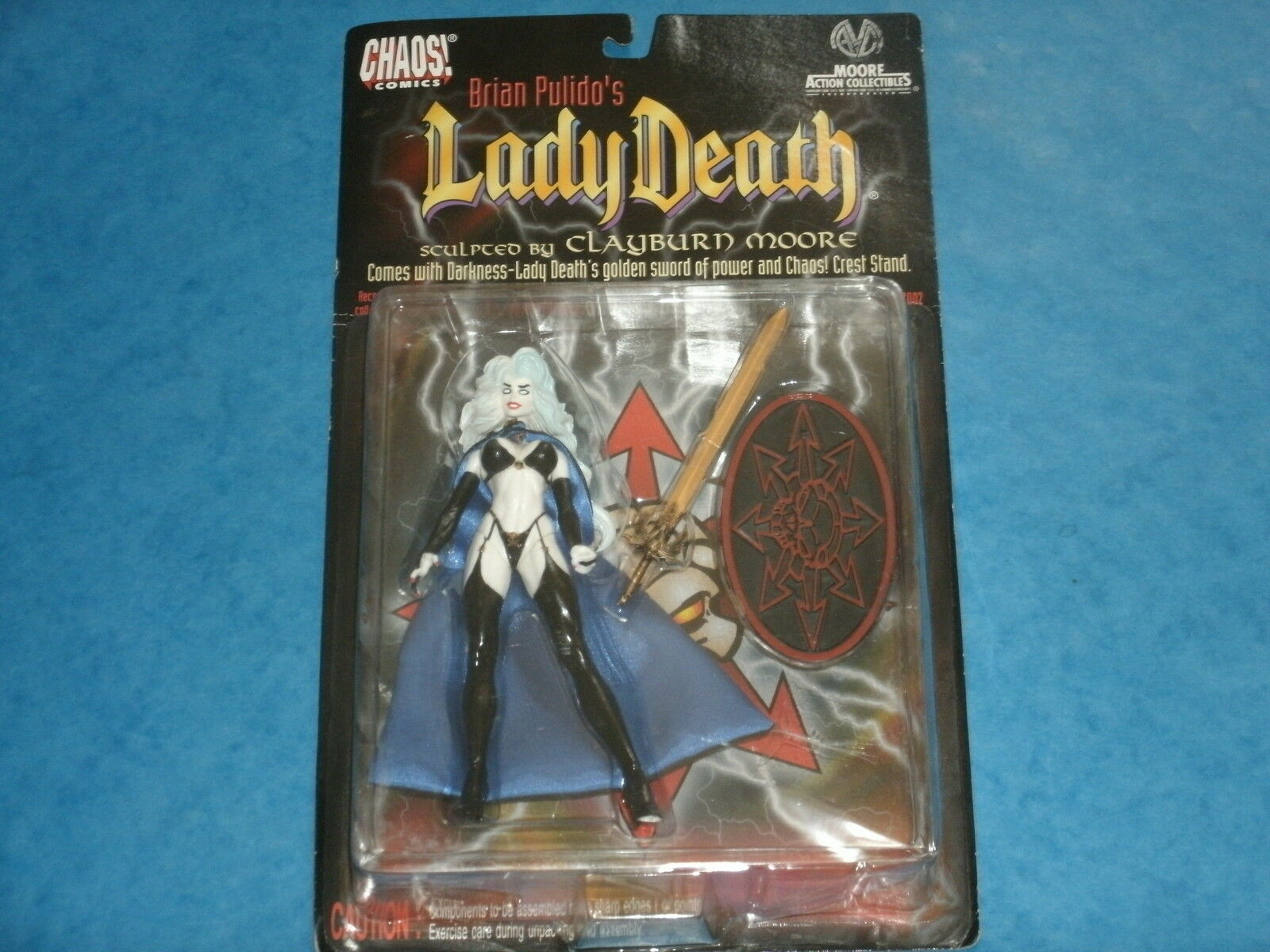 Chaos Comics  Brian Pulido's LADY DEATH Action Figure Moore Collectibles 1997