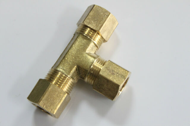 "Pack of 5 New 1/8"" OD Compression Tee,BRASS COMPRESSION FITTING"