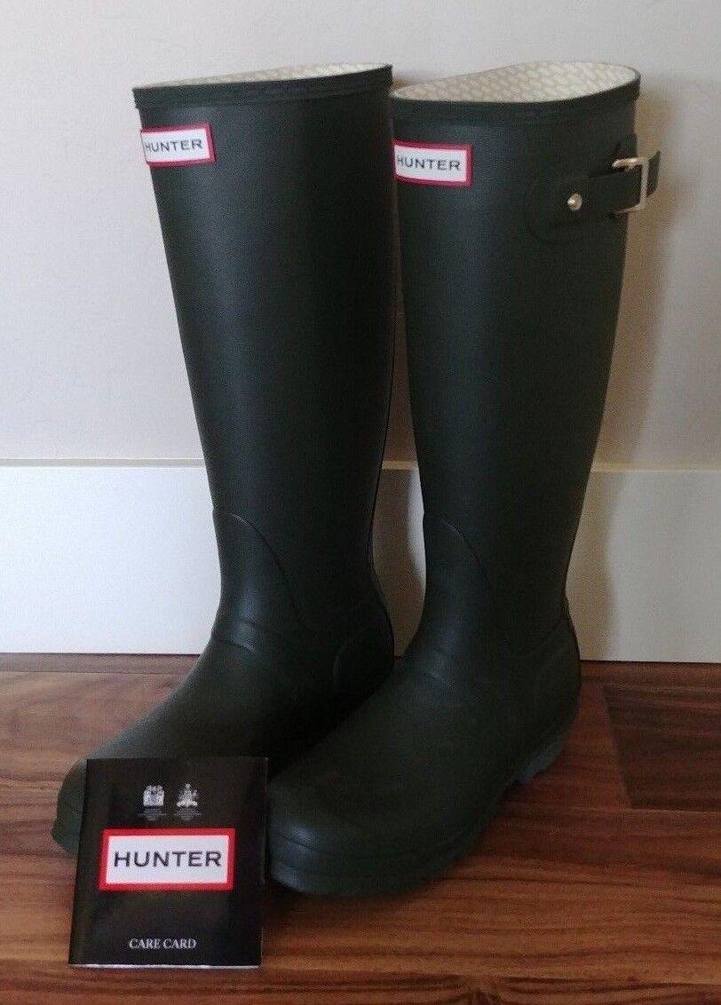 NEW HUNTER Original Adjustable Tall DARK OLIVE Rain boots Size 4M 5F US
