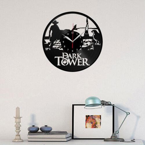 "Dark Tower Stephen King Vinyl Record Wall Clock Fan Art Home Decor 12/"" 30cm 1948"