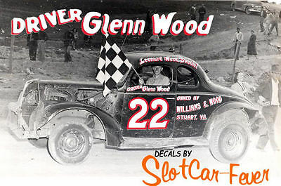 Diligent Cd_1249 #22 Glenn Wood 1939-40 Ford Coupe 1:64 Scale Decals ~overstock ~ Profit Small Decals Automotive