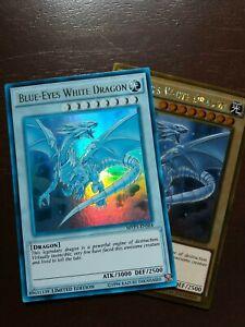"Ultra Rare ""GHOST"" Blue-Eyes White Dragon MVP1-ENSE4 - NM -Limited Edition"