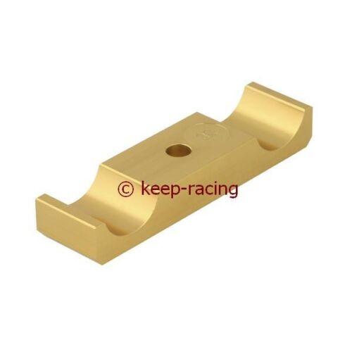 Aluminium Klammer für Motorbock 30//92mm gold eloxiert