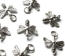 14 Bee charms silver tone A633