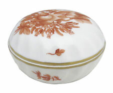 Herend Chinese Bouquet Rust (Aog) Ring Box & Lid